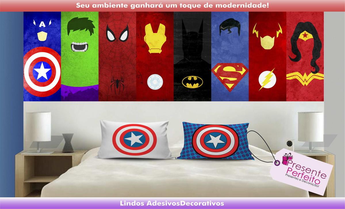 Artesanato Russo Em Sp ~ Adesivo Decorativo Heróis Marvel e DC no Elo7 Loja Presente Perfeito (684E8A)