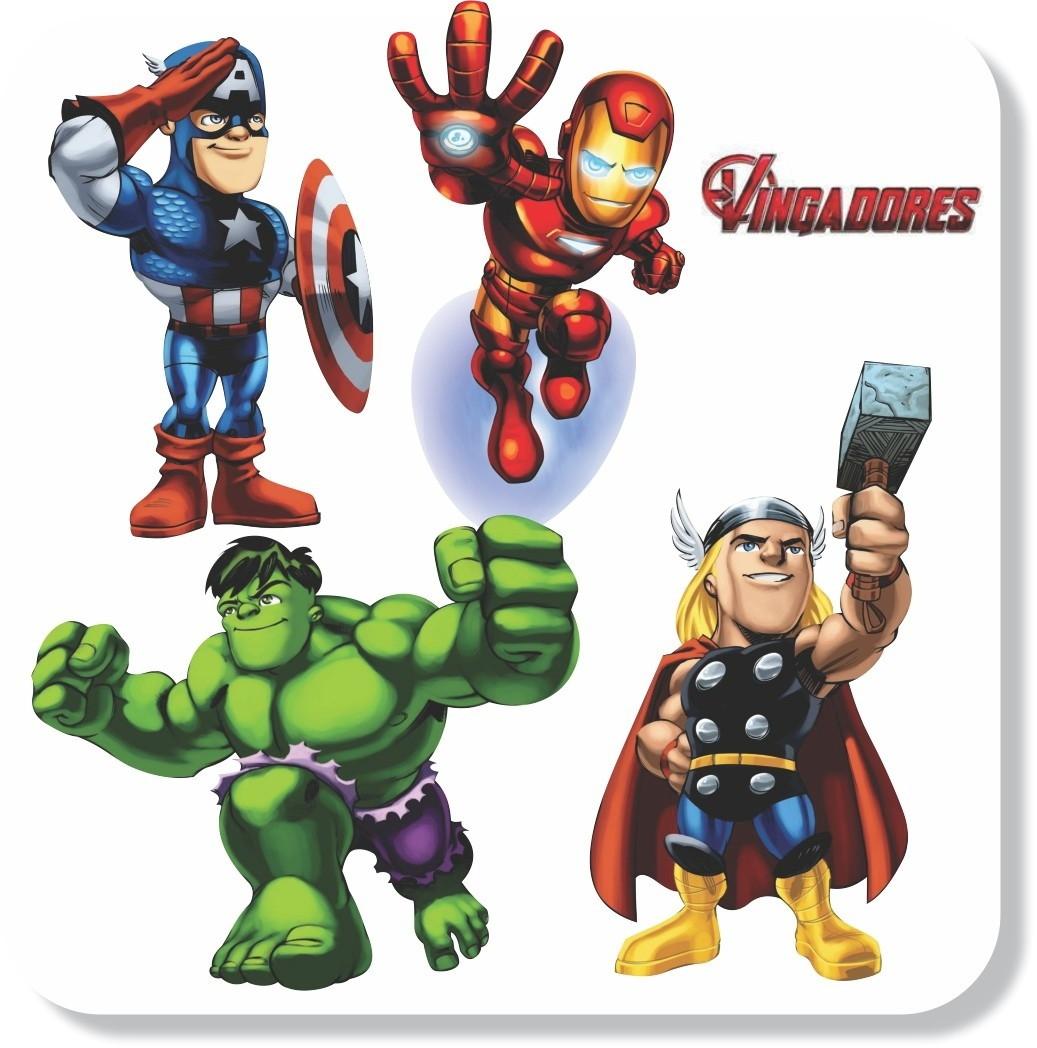 Artesanato Reciclado Com Vidro ~ Adesivos Parede Vingadores Avengers Mundo do adesivo Elo7