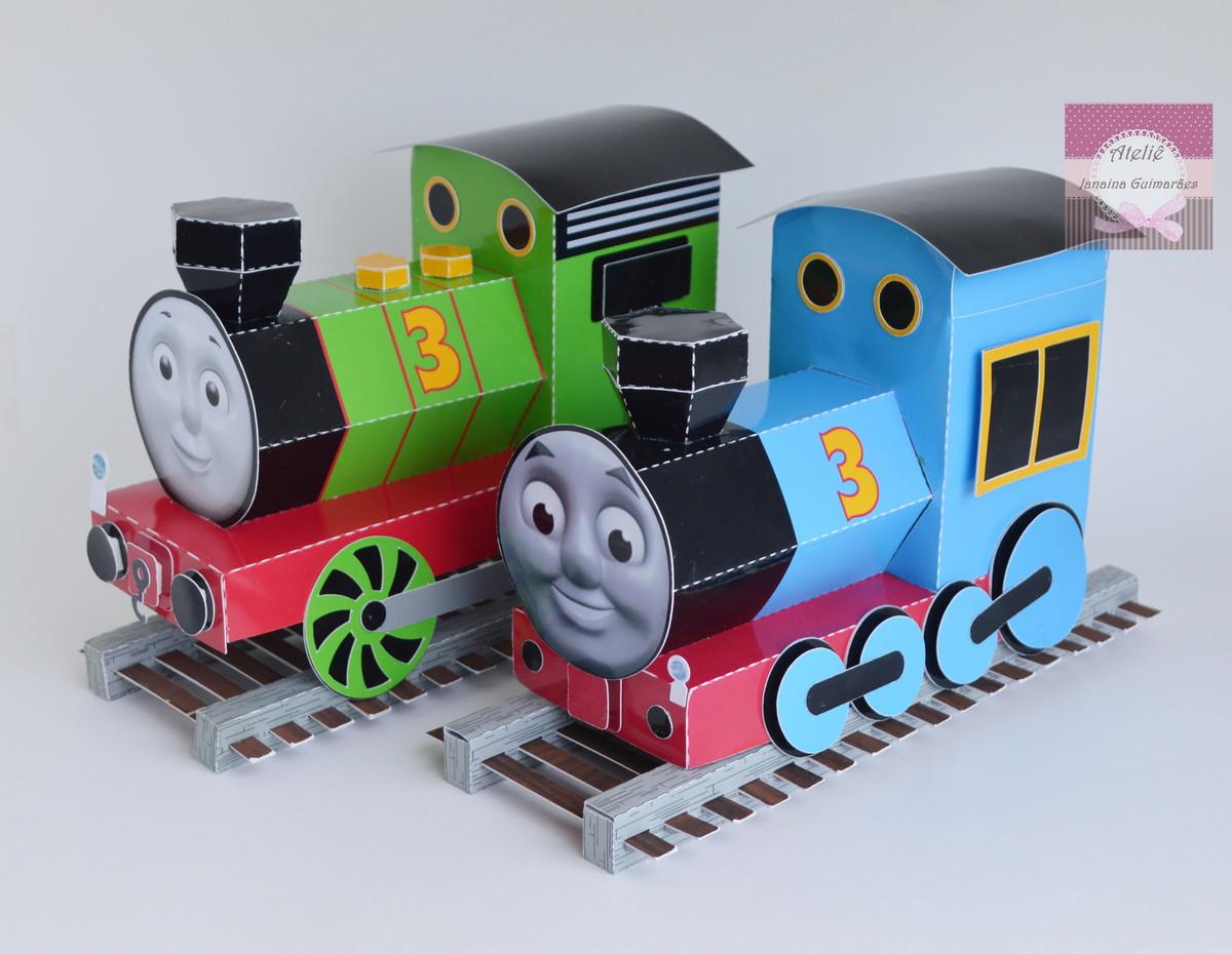 Kit Trem Thomas e Amigos +Percy + Trilho