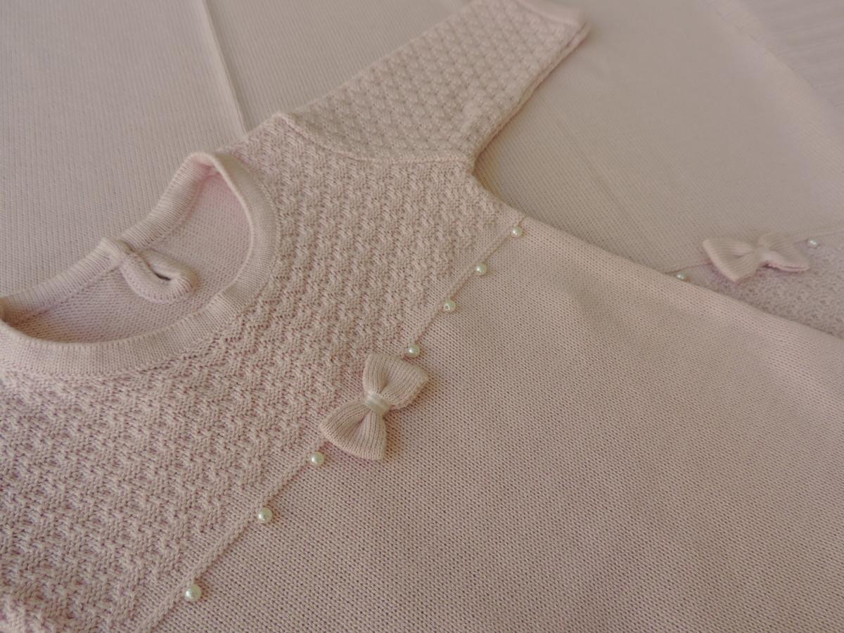 bdc13d265 Saída Maternidade Vestido Rosa (3 peças) no Elo7
