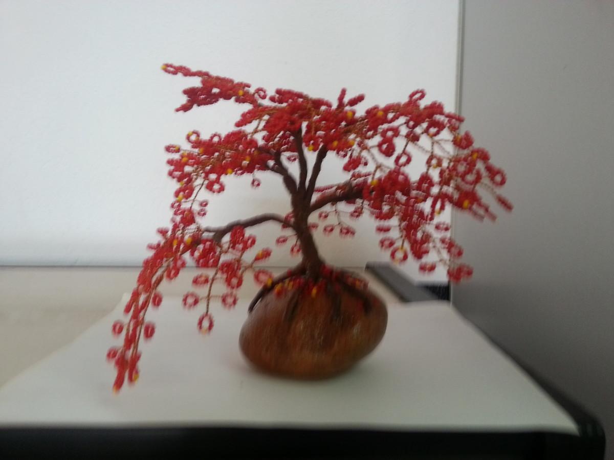 Beaded Bonsai Flamboyant Vermelho No Elo7 Lindatelie 692b1a