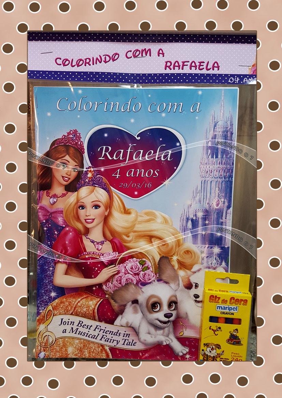 Kit De Colorir Barbie No Elo7 Pintando O 7 696e44