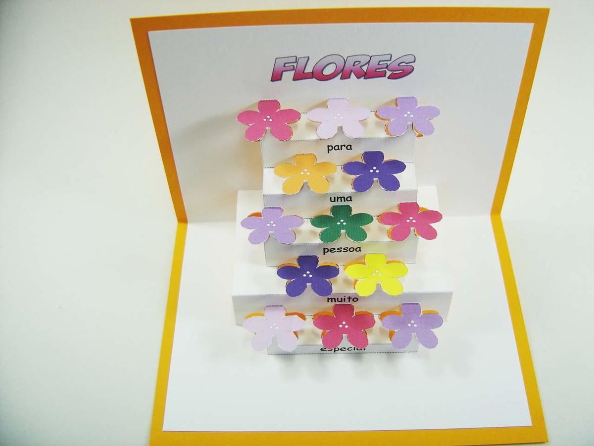 Armário Em Inglês Como Se Escreve ~ Cart u00e3o Flores cod 10914 no Elo7 KIRIGAMI (F5BAF)