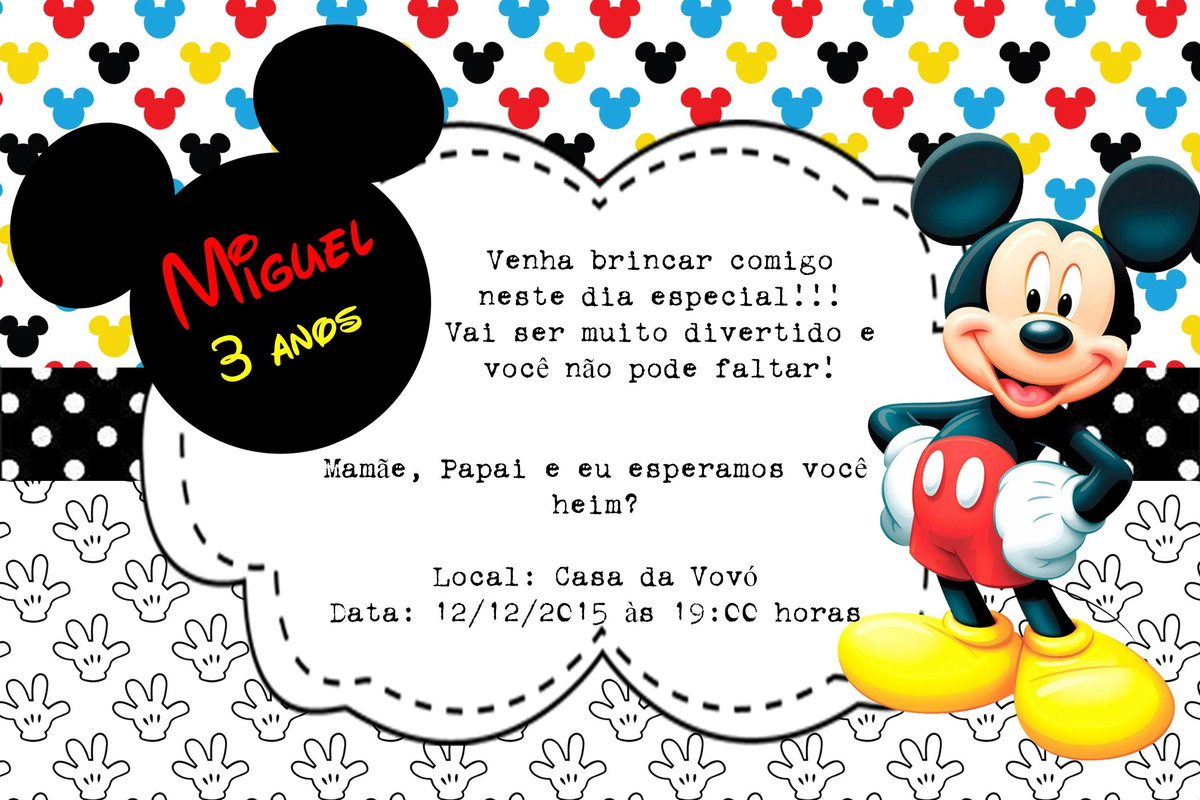 Blank Mickey Mouse Invitations are Lovely Style To Make Beautiful Invitation Sample
