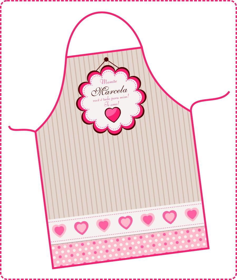 13116c678 Avental Dia das Mães - FRETE GRÁTIS no Elo7 | DigiArt Kids (699CD3)