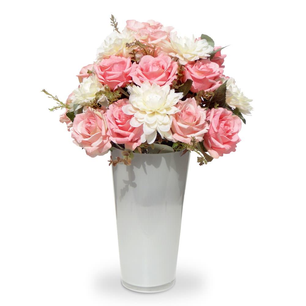 Arranjo de flores artificiais no Elo7 Felicitadecor (699E6E) # Decoração Arranjos De Flores Artificiais