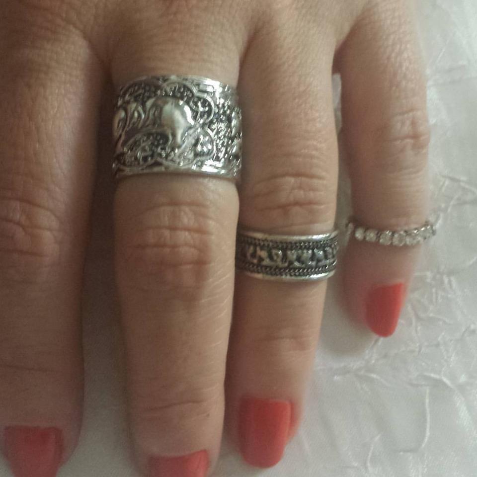 2bccab6ac00 Kit anéis prata velha. no Elo7