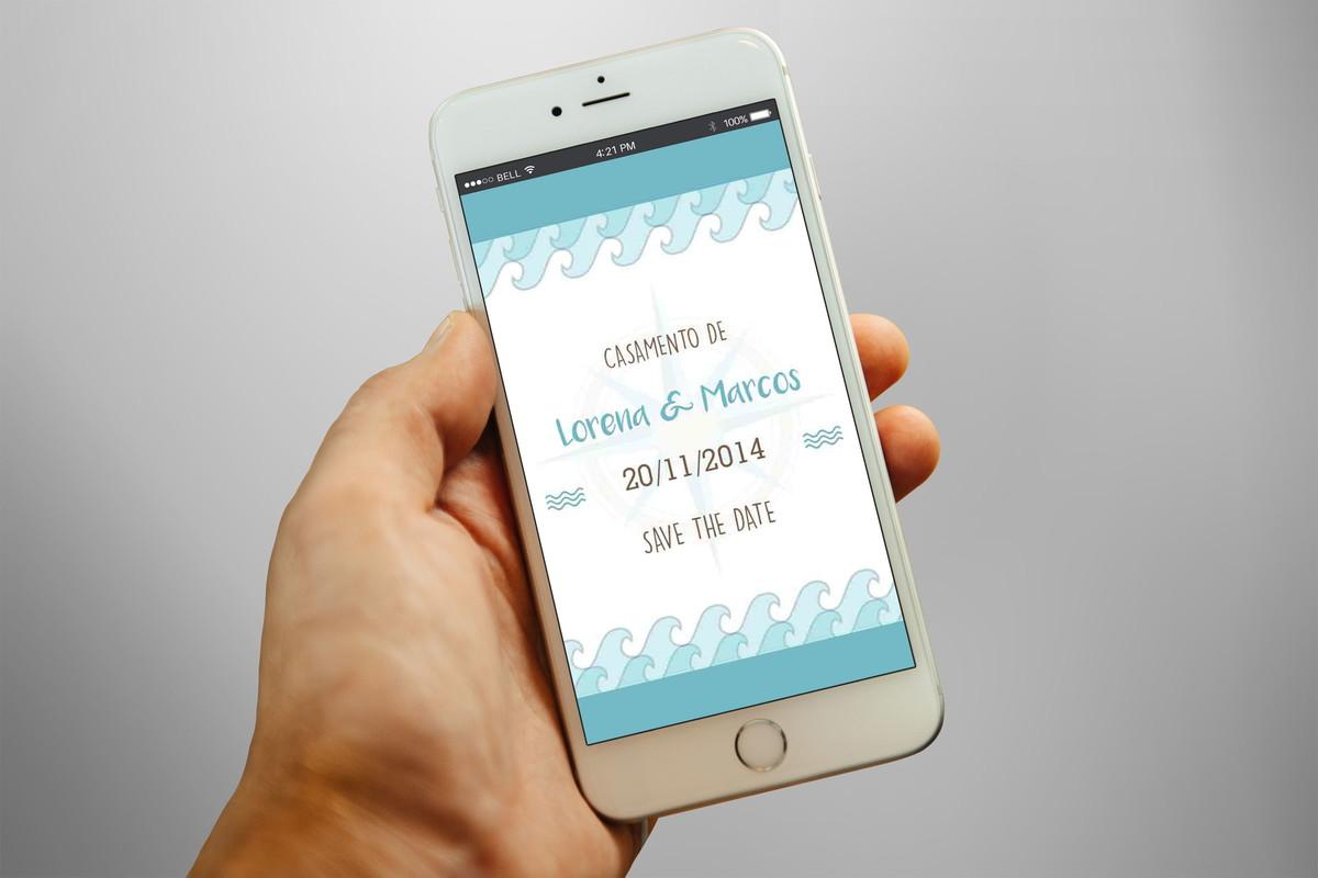 save the date convite digital praia no elo7 sinequa convites
