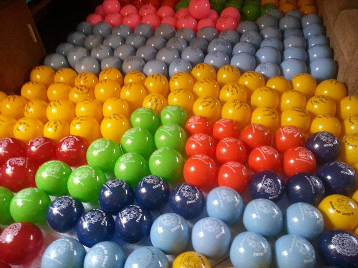 Kit de 60 bolas bolas de vinil personalizadas regibol elo7 for Bolas para piscina de bolas