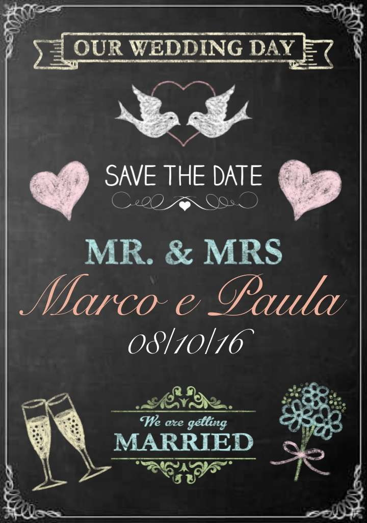 Excellent Chalkboard save the date- arte digital no Elo7 | Chalk Life, a  SN93