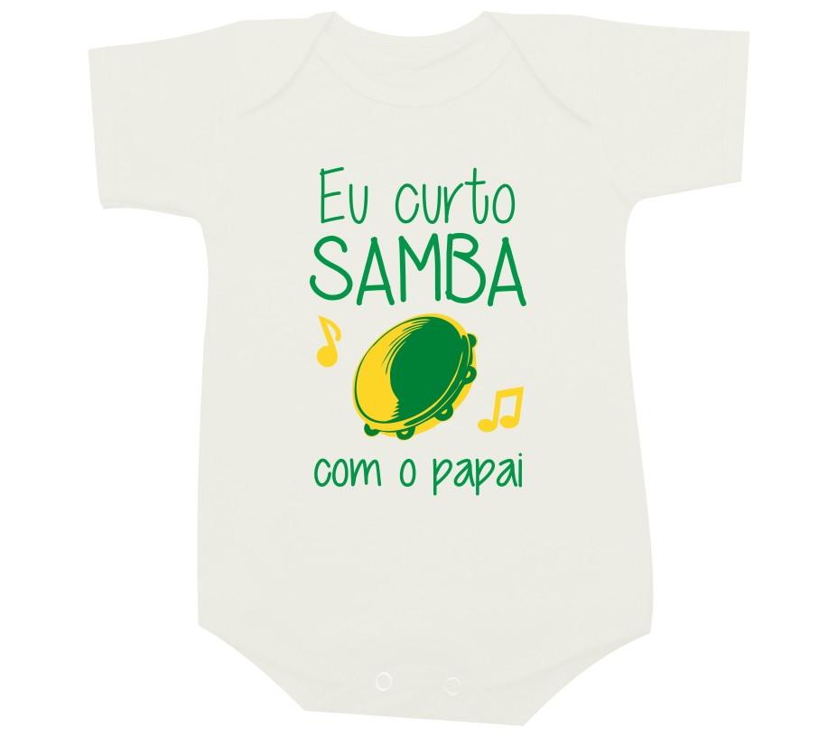 ae0af206c4 Eu curto samba com o papai -Body de bebê no Elo7