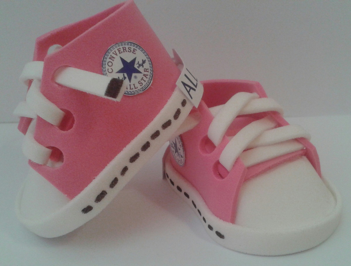 c5b26232c4b Mini Tênis All Star Rosa Salmão no Elo7