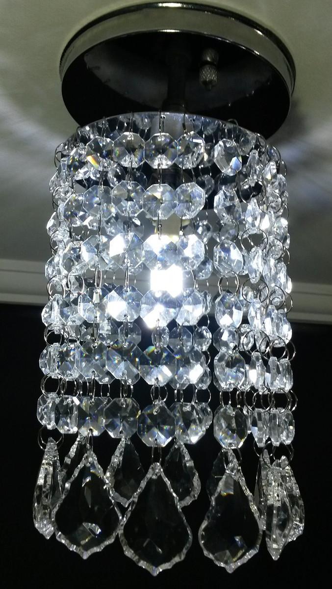 Lustre de Cristal Asfour Sala Base Inox no Elo7 | Lustres SH Design ...