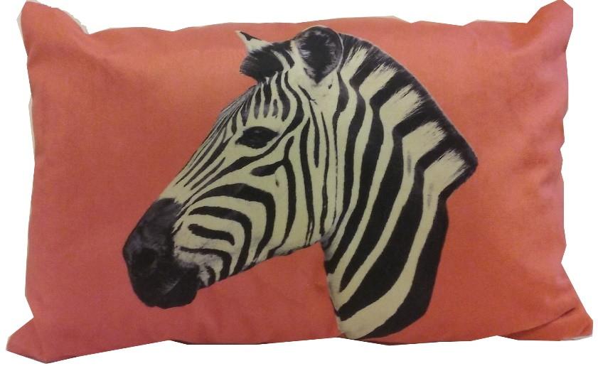 5ffd61e083782f Capa de Almofada Cabeça de Zebra PQ
