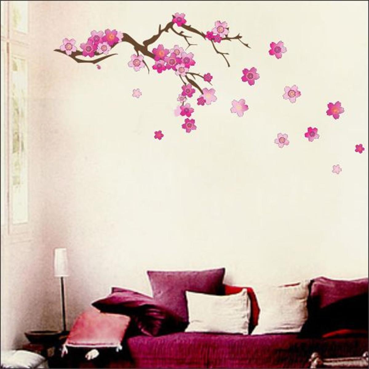 Adesivo Parede Flores De Cerejeira Artm Decora O Criativa Elo7 ~ Decoração Criativa Quarto Feminino