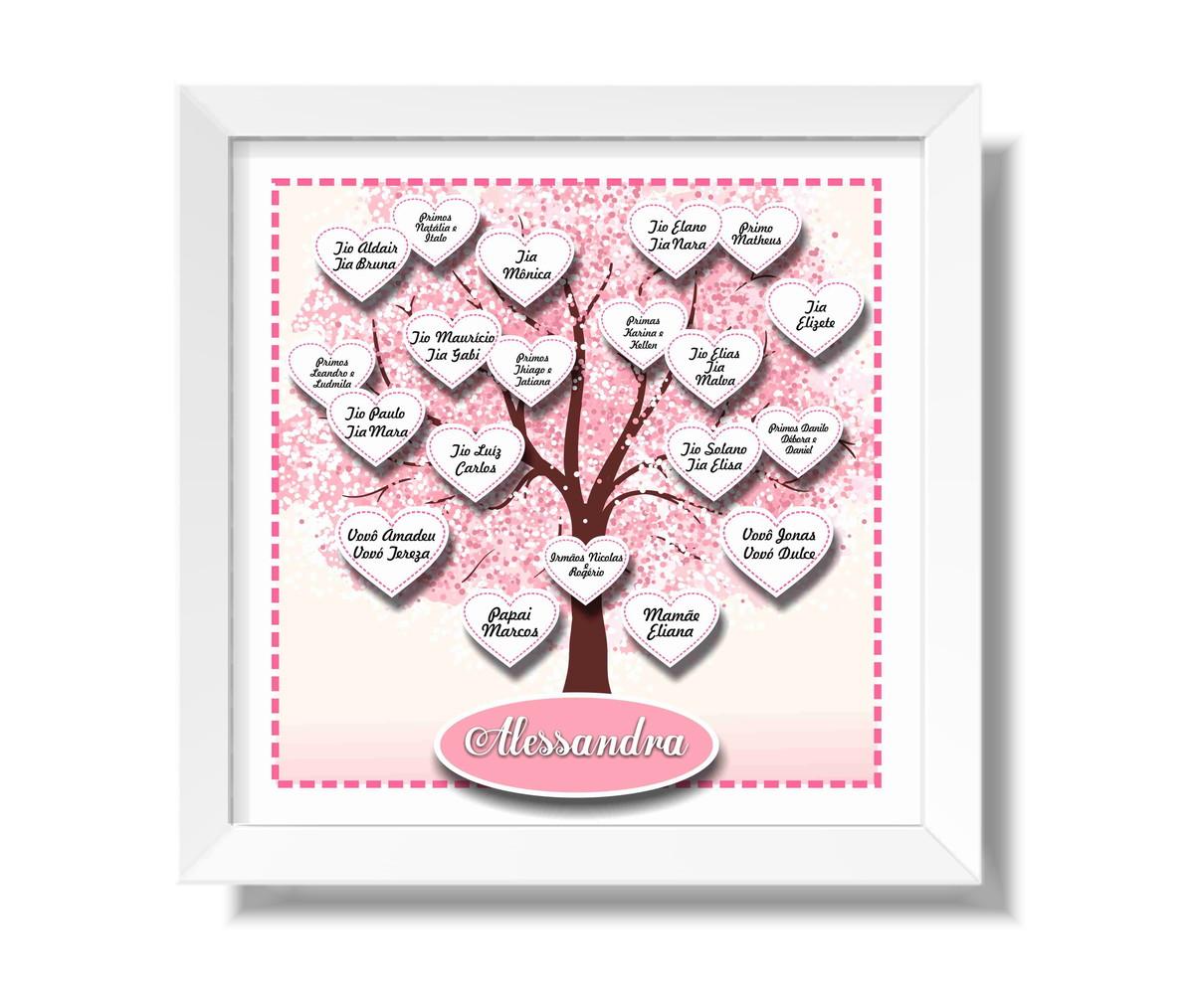 quadro Árvore genealógica rosa no elo7 diparede quadros posters