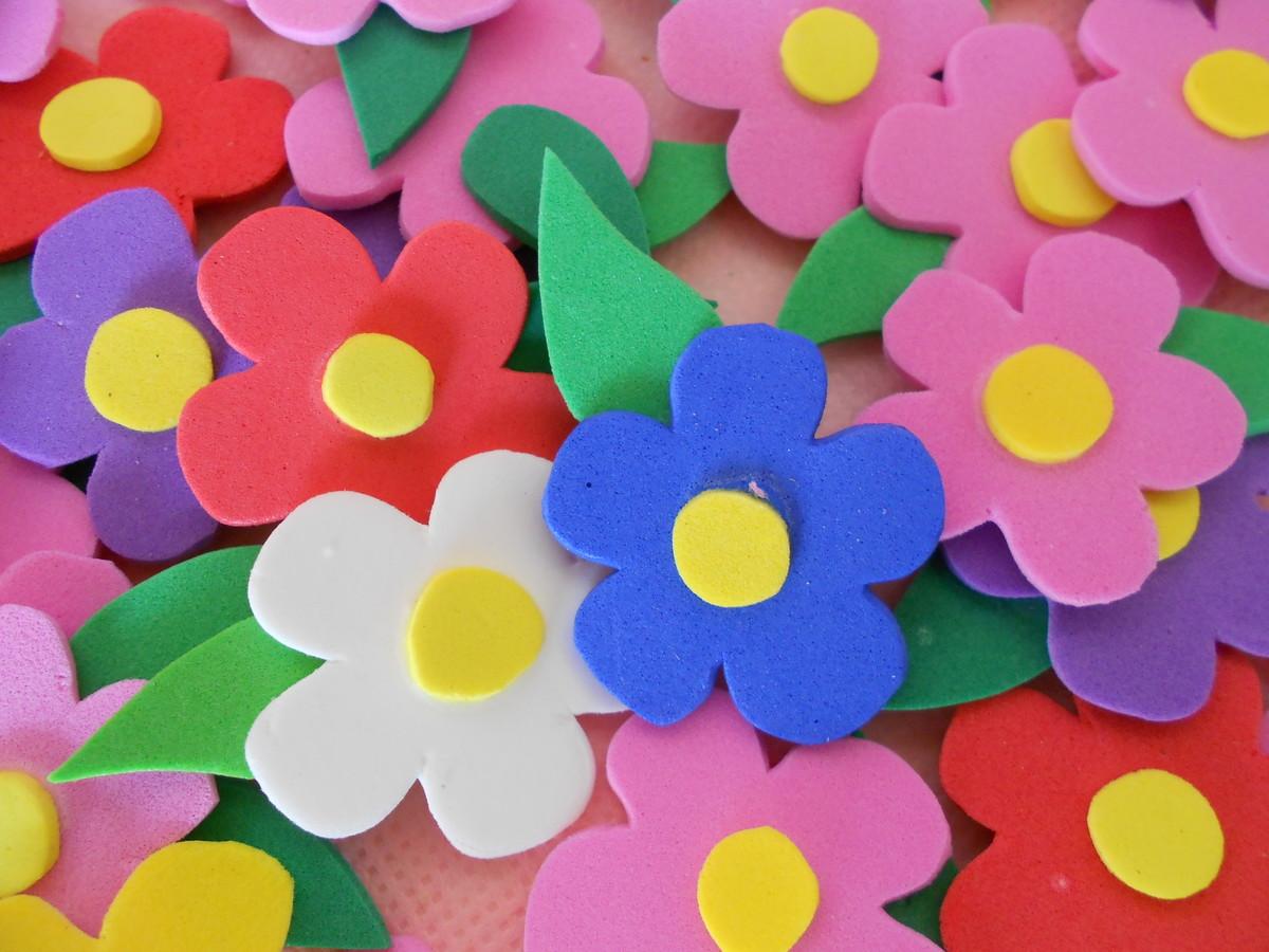 Aplique Flor Grande De Eva No Elo7 Petit Gateau Eventos 6b4808