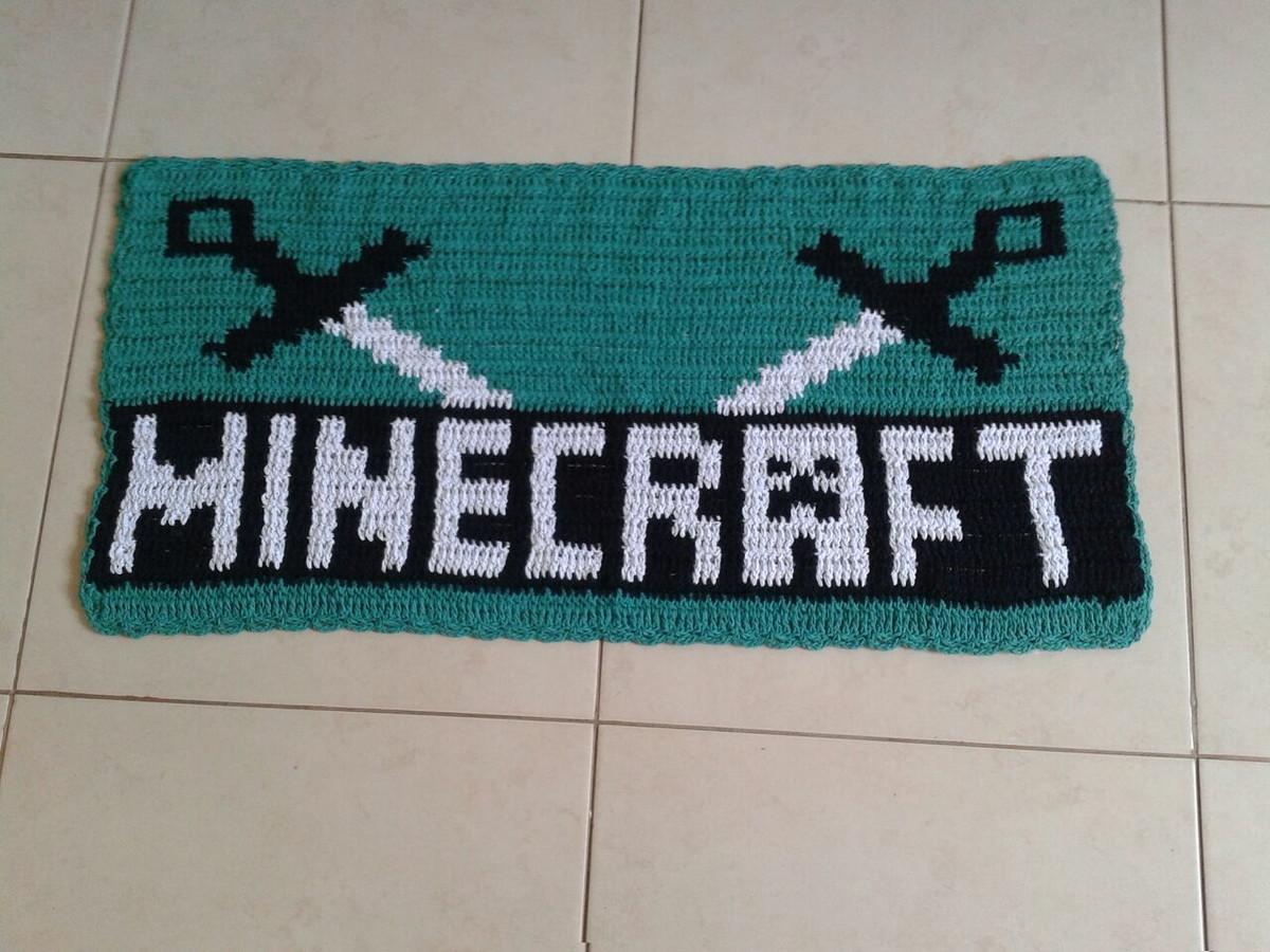 Tapete De Croch Minecraft No Elo7 Lw Croch 6b79e4  -> Tapetes Desenhos