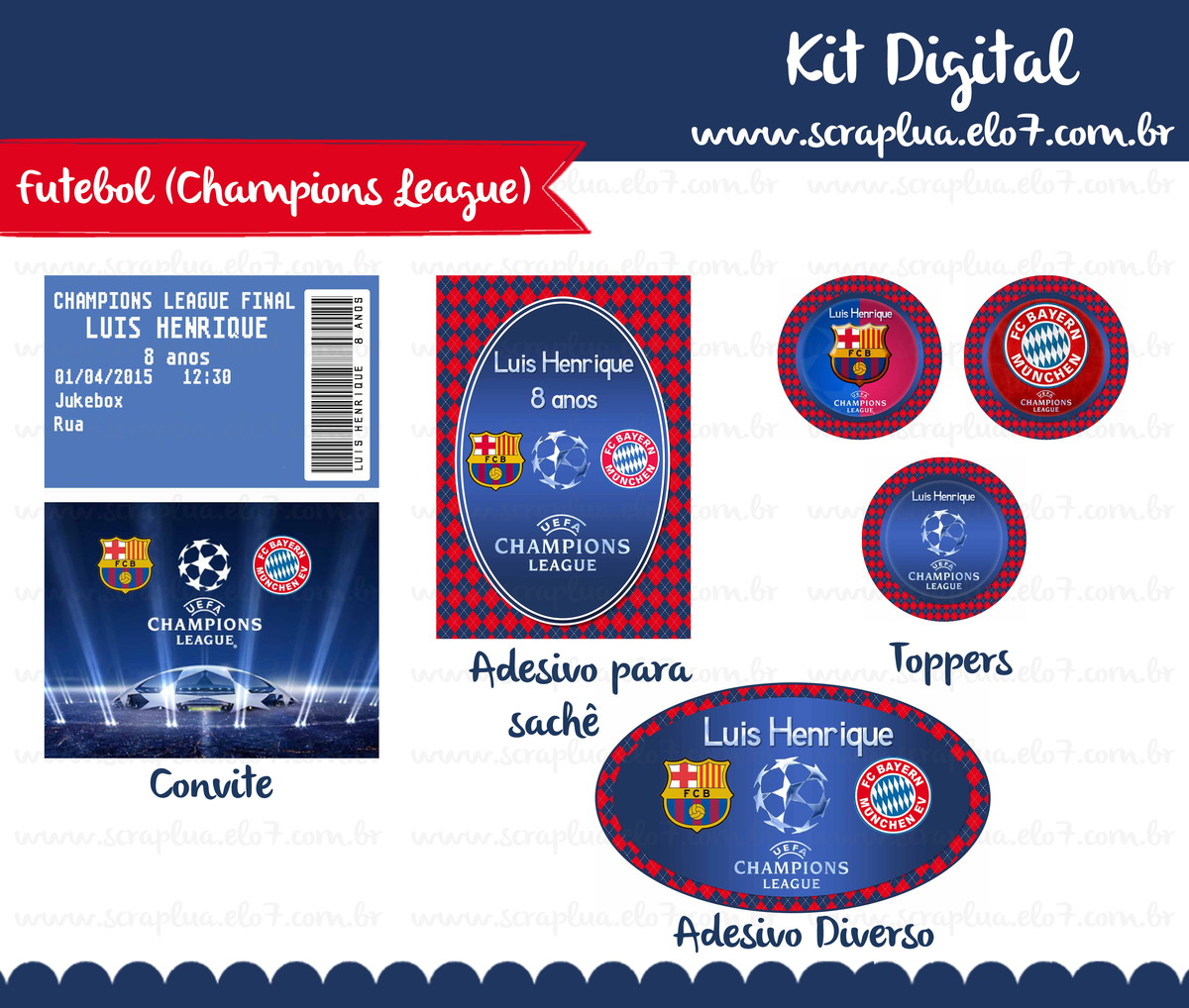 Kit Digital Futebol no Elo7  9f2856a1a3d76