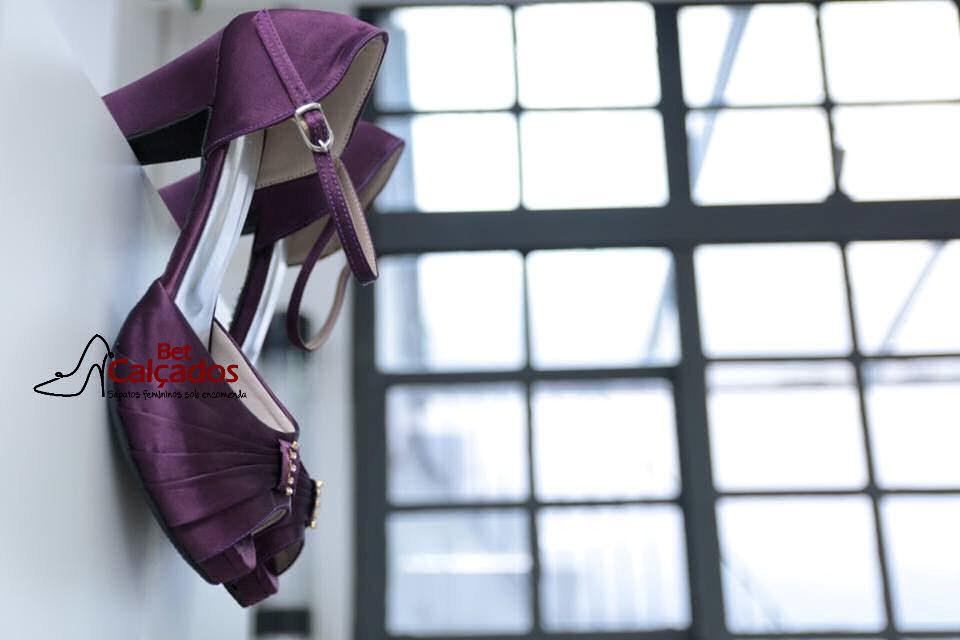 4fbfe0de3 Sandália CETIM roxo rosto drapeado no Elo7 | Bet Calçados (6C8421)