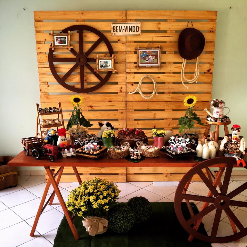 Decoraç u00e3o Fazendinha Paty Art& Momentos Elo7 -> Decoração De Reveillon Na Fazenda