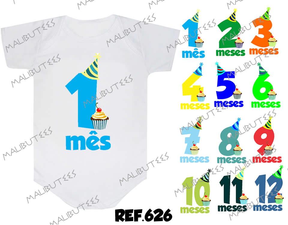 2 Mesversario Frases: Mesversario Números Coloridos Kit 12 No Elo7