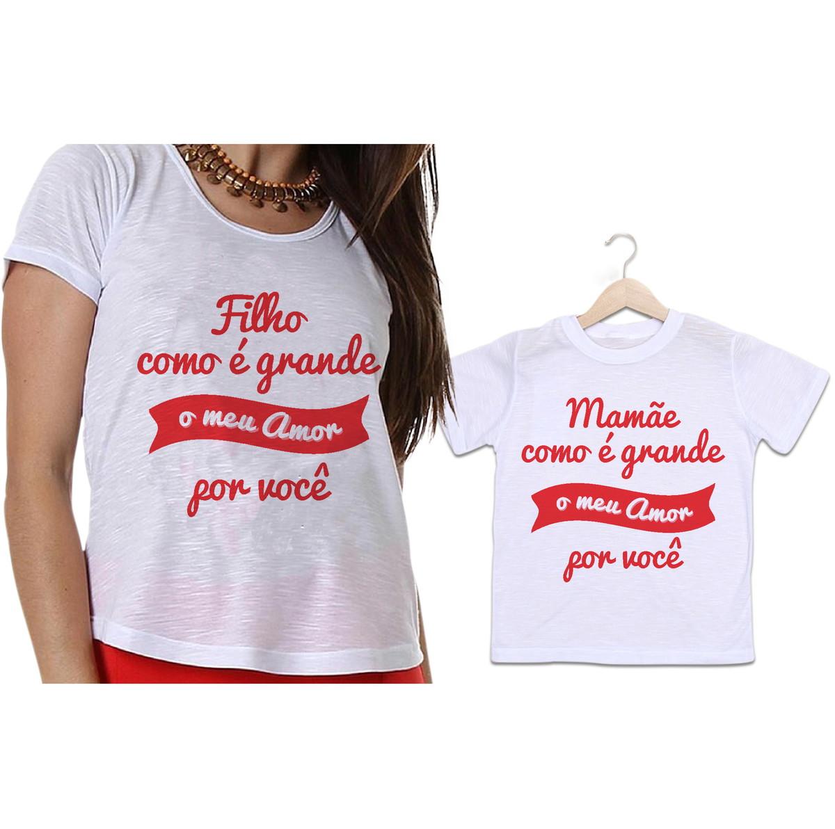 9ce77f09b03a Camisetas Mãe e Filho Meu amor por Você no Elo7 | Empório ...