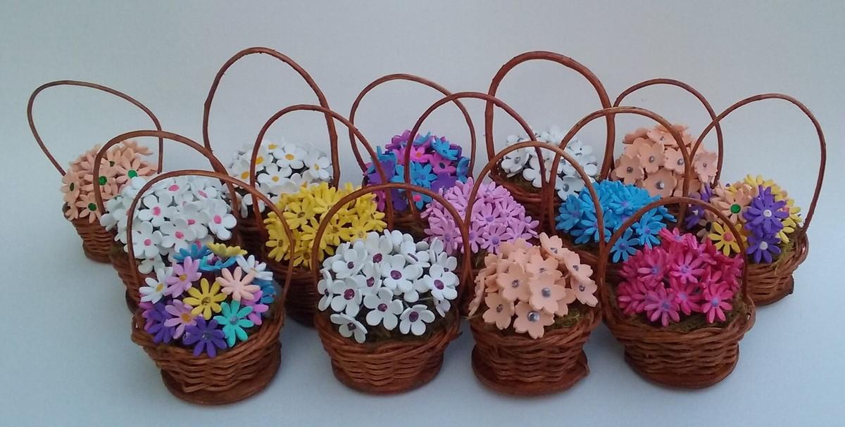 Mini cesta de flores no elo7 estrela da manha artesanato - Cestas decorativas ...