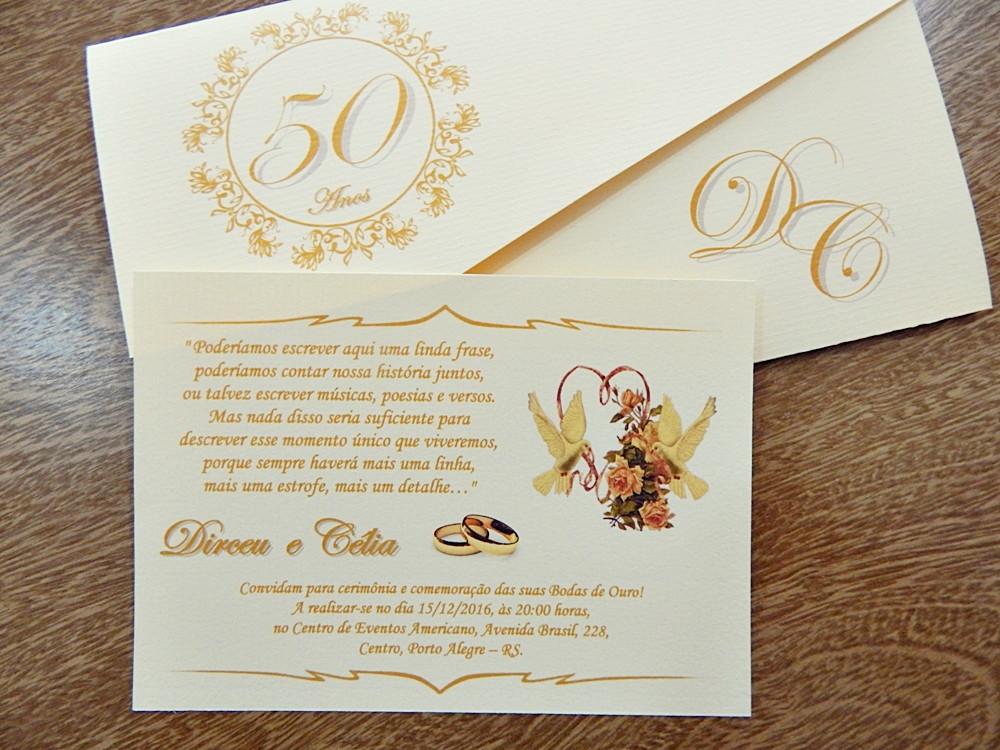 Convite Bodas De Ouro Cancun Passáros No Elo7 Papelac Convites