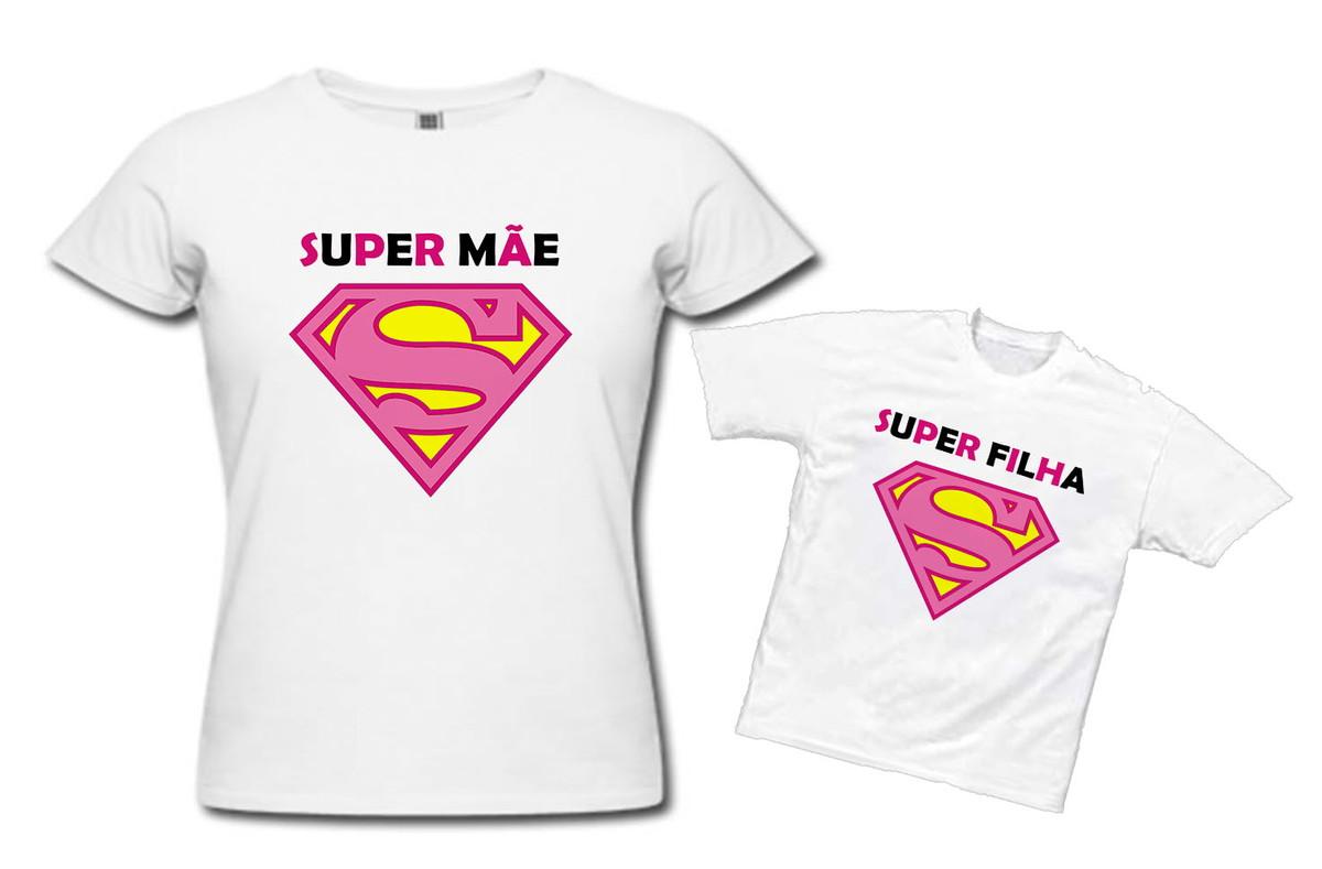 359ce698213ee1 Camisas Super Mãe, Super Filha *PROMOÇÃO