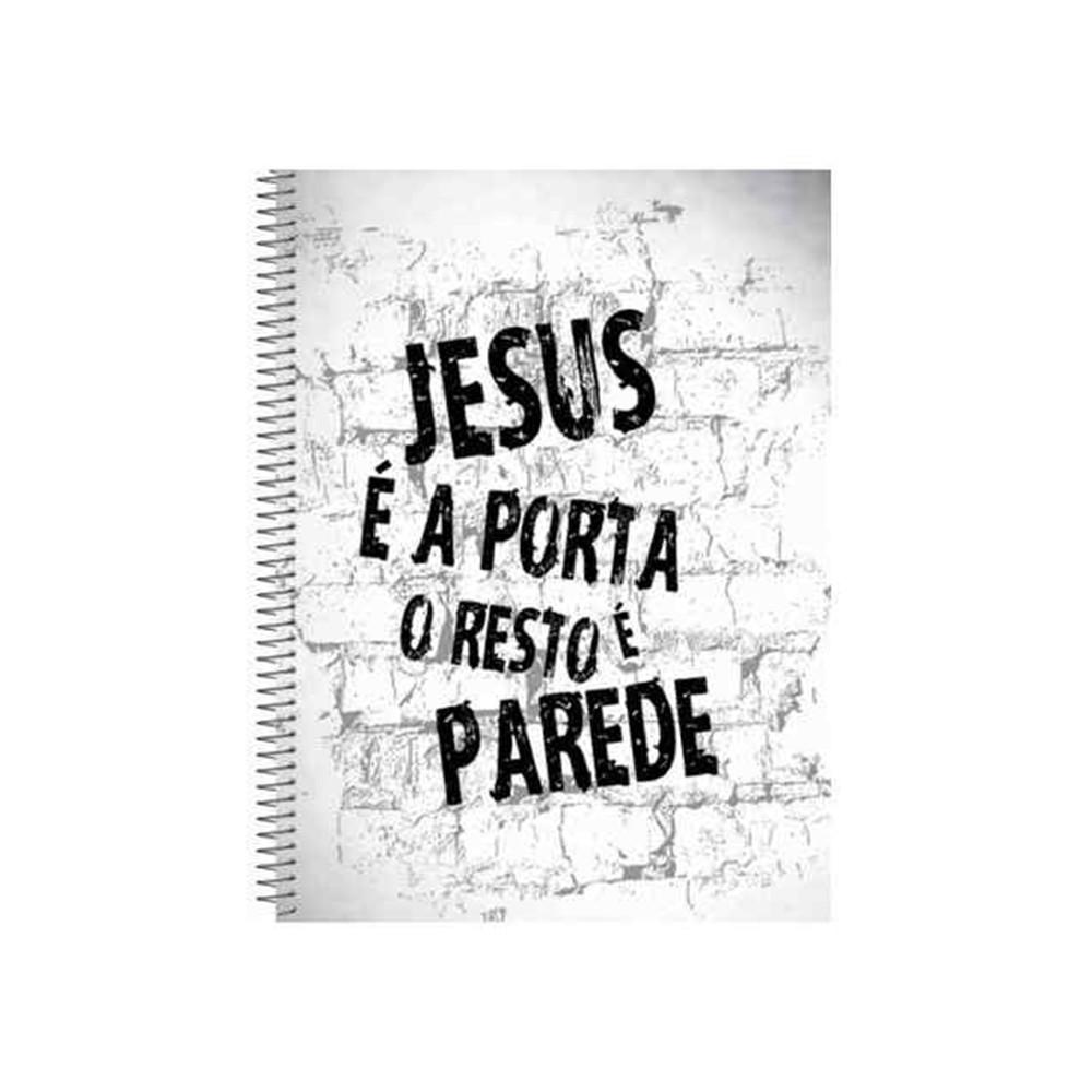 Caderno espiral jesus a porta cria es gospel elo7 for Jesus a porta