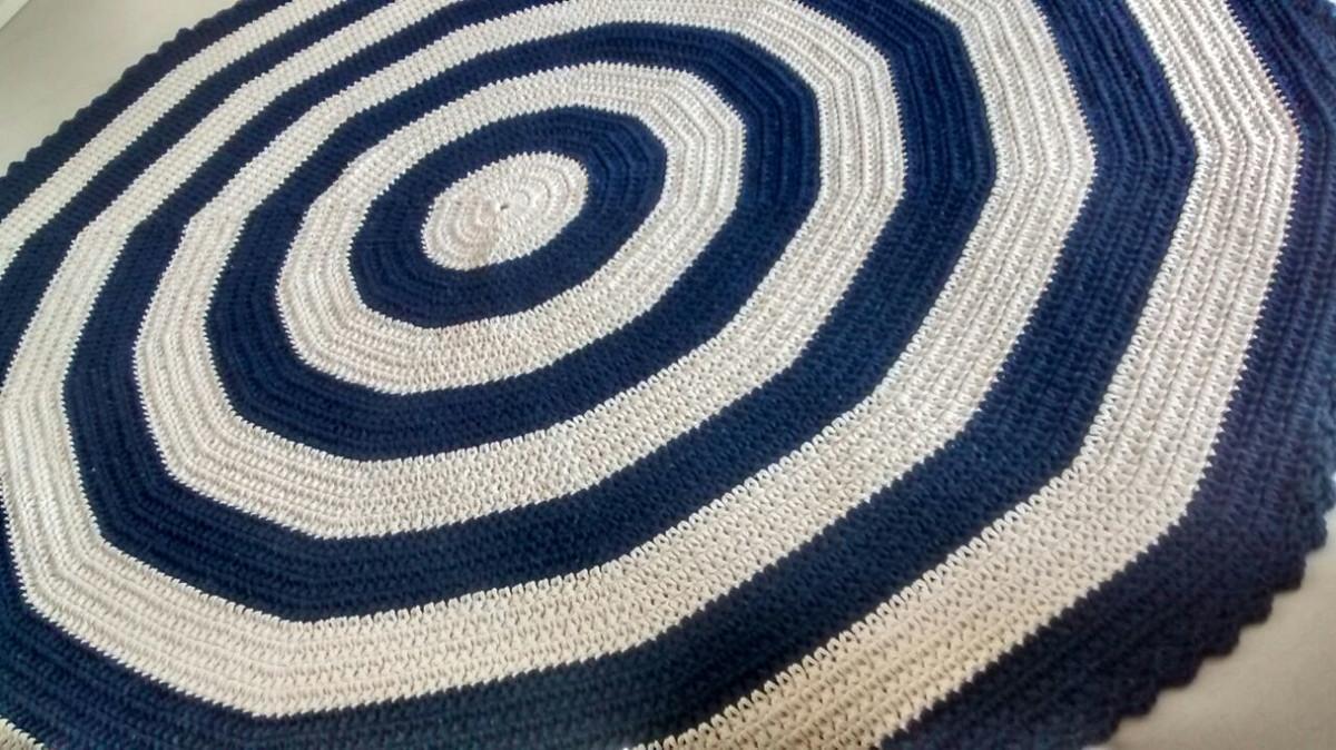 Tapete Caprichado Cru E Azul Marinho No Elo7 Criativo E Caprichado  -> Decoracao De Sala Azul Marinho