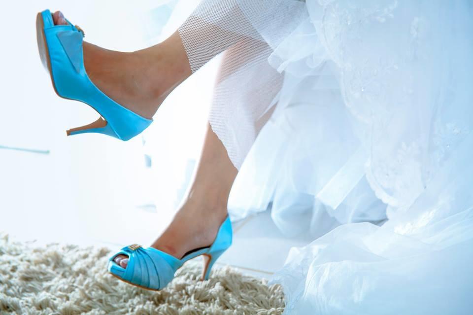 7dea6547eae Sapato de Noiva Azul Turquesa no Elo7