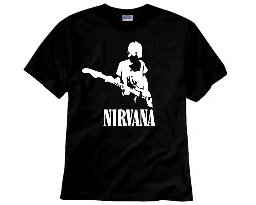 Camiseta de Rock Nirvana Kurt no Elo7  8fcaf6ebff4