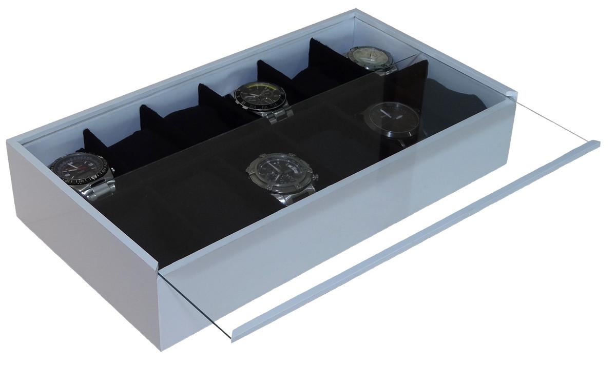 db2519324f8 Porta Relógio c/ 12 divisões Branco no Elo7 | Poli Design (6E2B17)