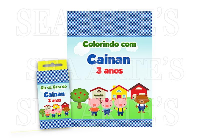 Kit Colorir Os 3 Porquinhos No Elo7 Sea Artes 6e3aec