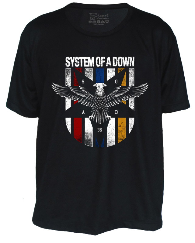 Camiseta System of a Down no Elo7  81497b1895a02