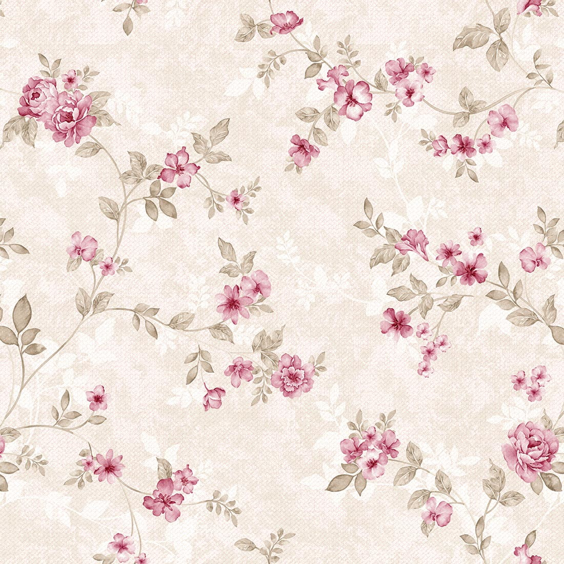 Papel de parede floral rosa delicado no elo7 jmi decor - Papel de pared para bebes ...