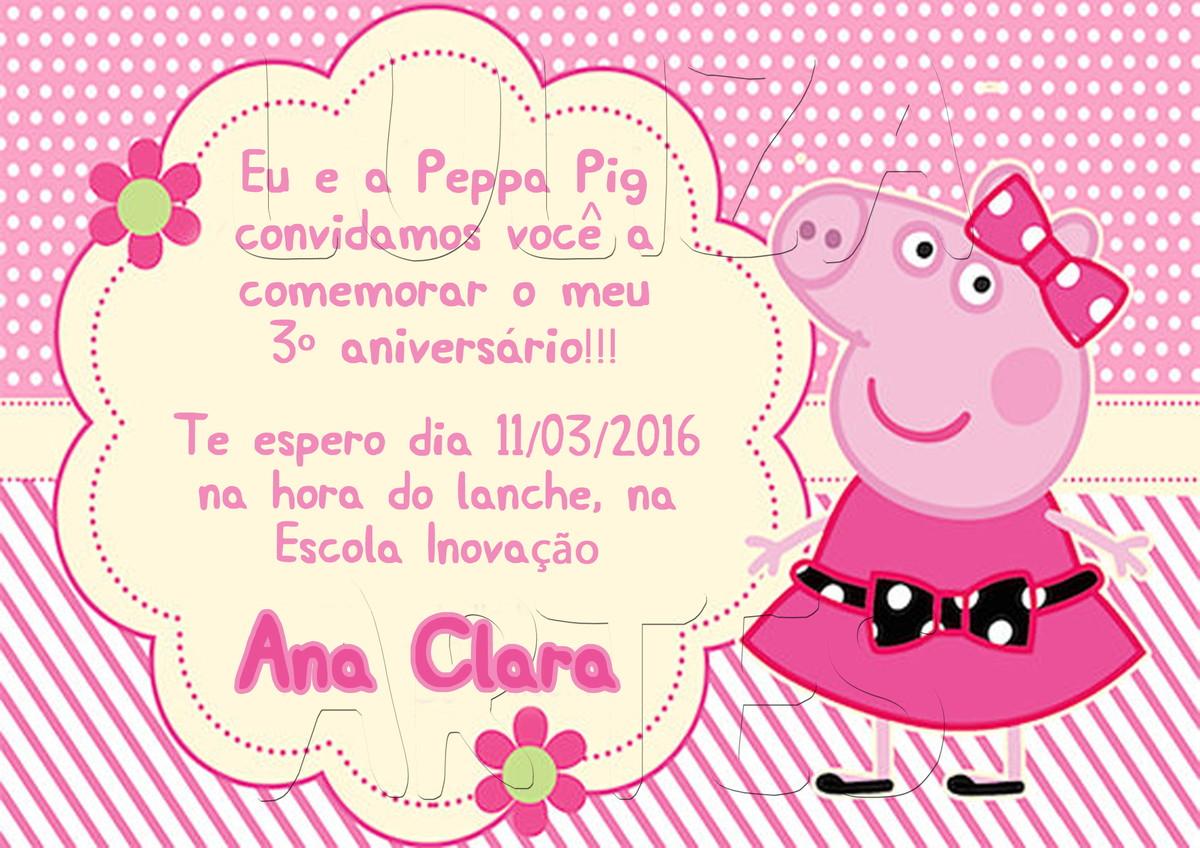 Zoom · Arte Digital Convite Peppa Pig