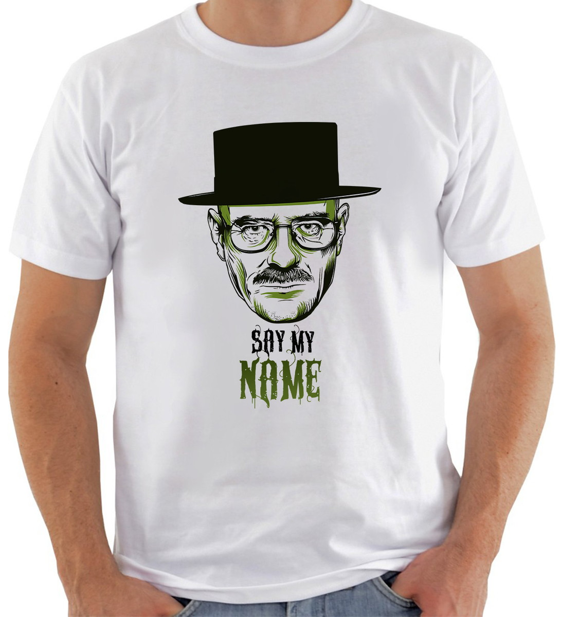 camiseta breaking bad 11 say my name loja toma elo7. Black Bedroom Furniture Sets. Home Design Ideas