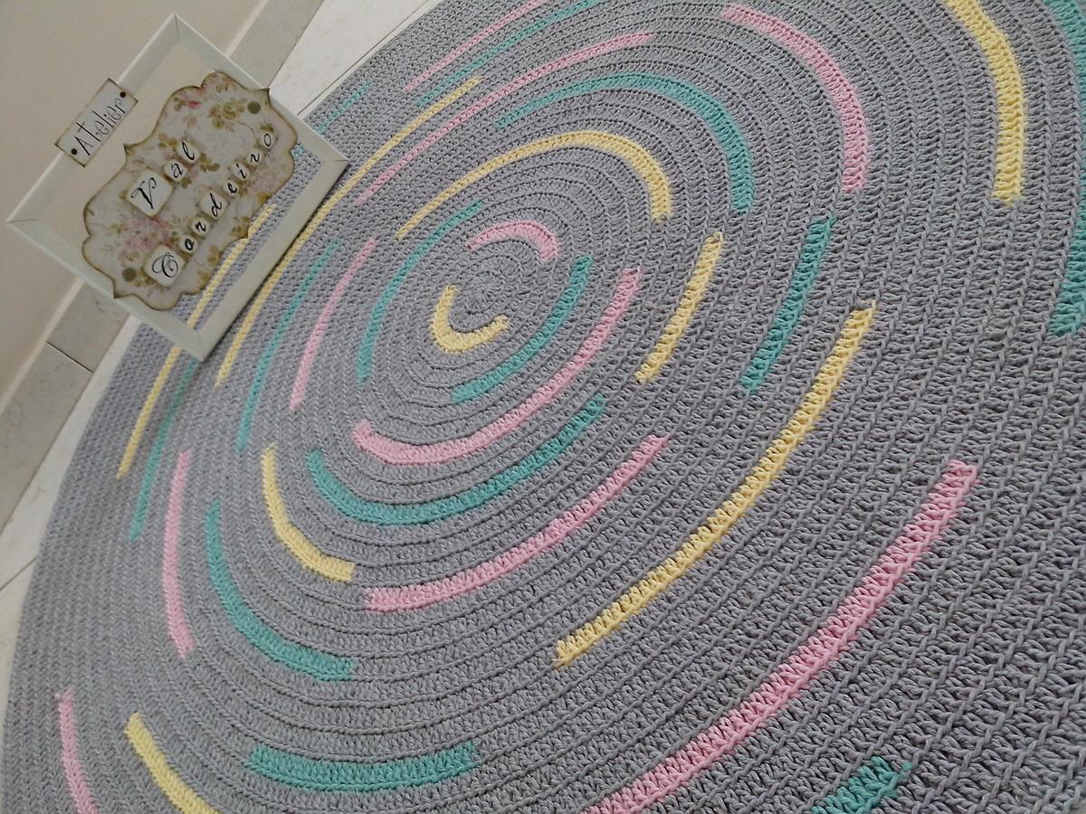 tapete croch baby arco ris 1 20m atelier val cordeiro elo7. Black Bedroom Furniture Sets. Home Design Ideas