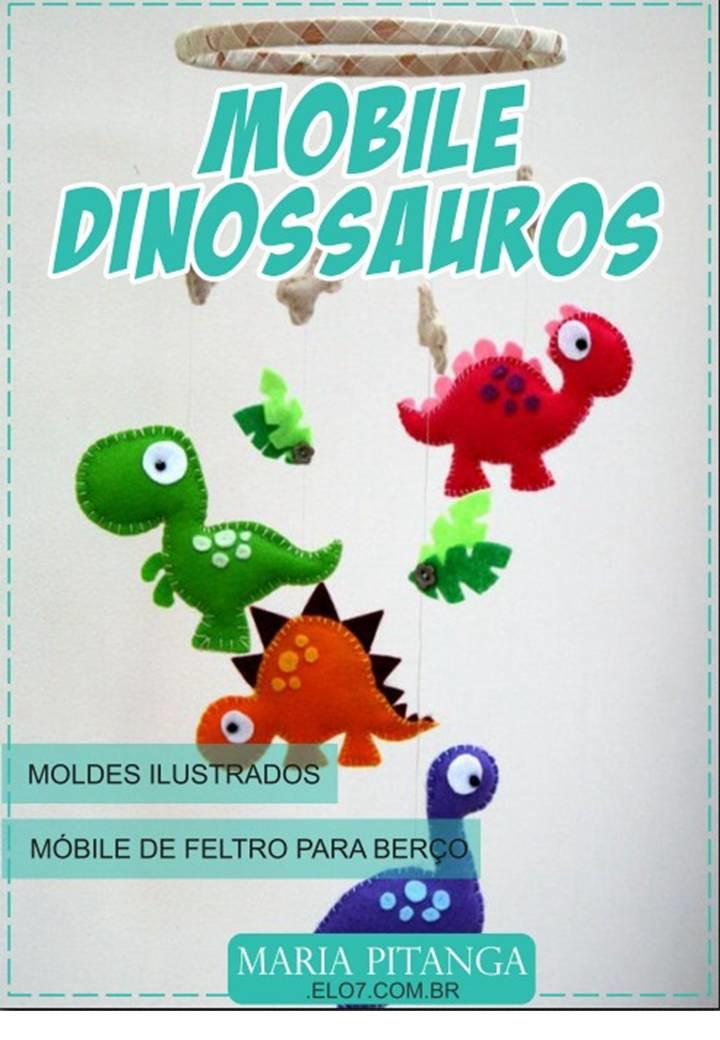 Apostila De Moldes Dinossauros De Feltro Pdf No Elo7 Maria