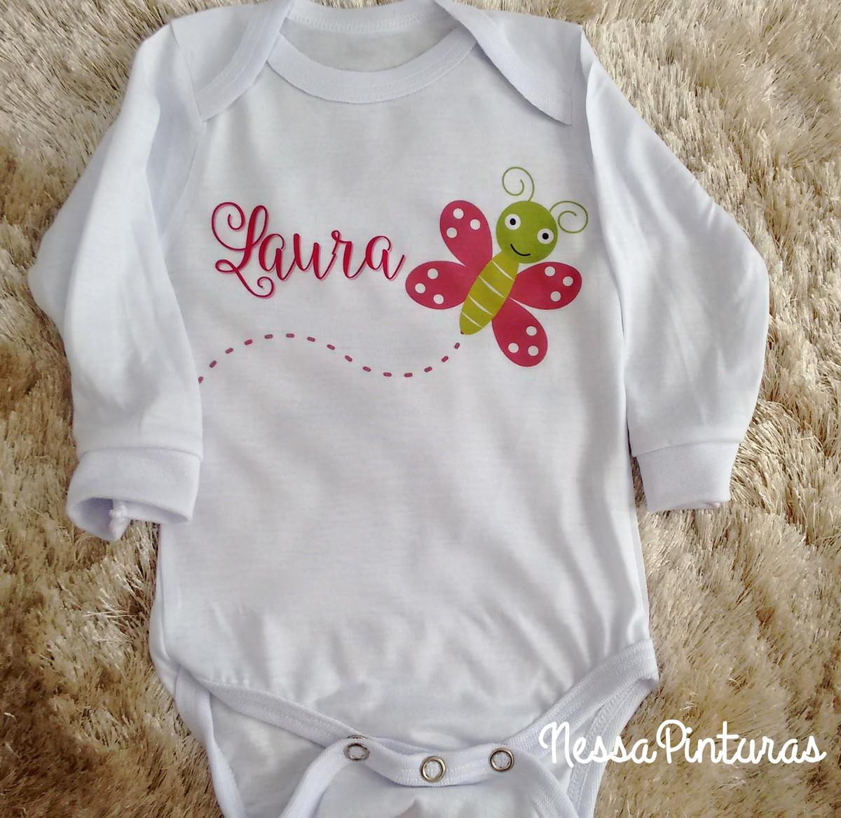 783e9003e5 Body bebê personalizado com nome no Elo7