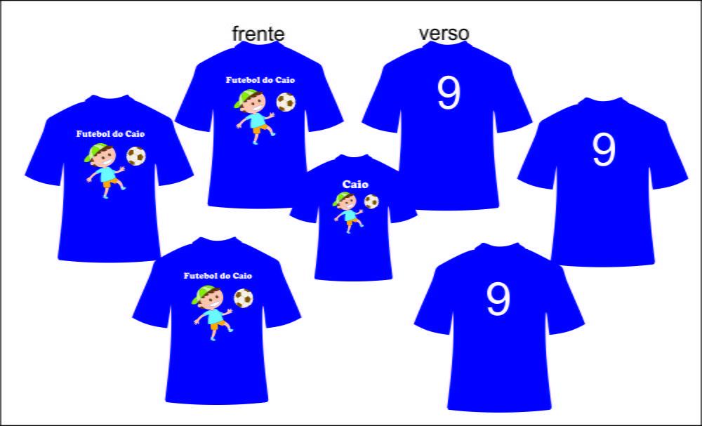 fa3dd0dcbe Kit camisetas personalizadas aniversario Futebol no Elo7