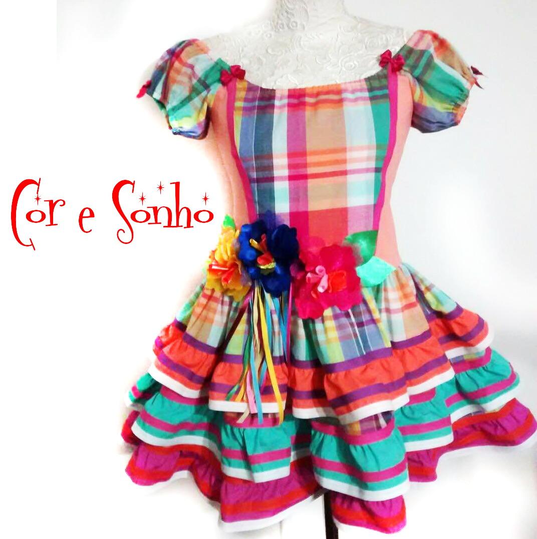 Vestido Floral Com Bolero - coleção de inverno infantil no