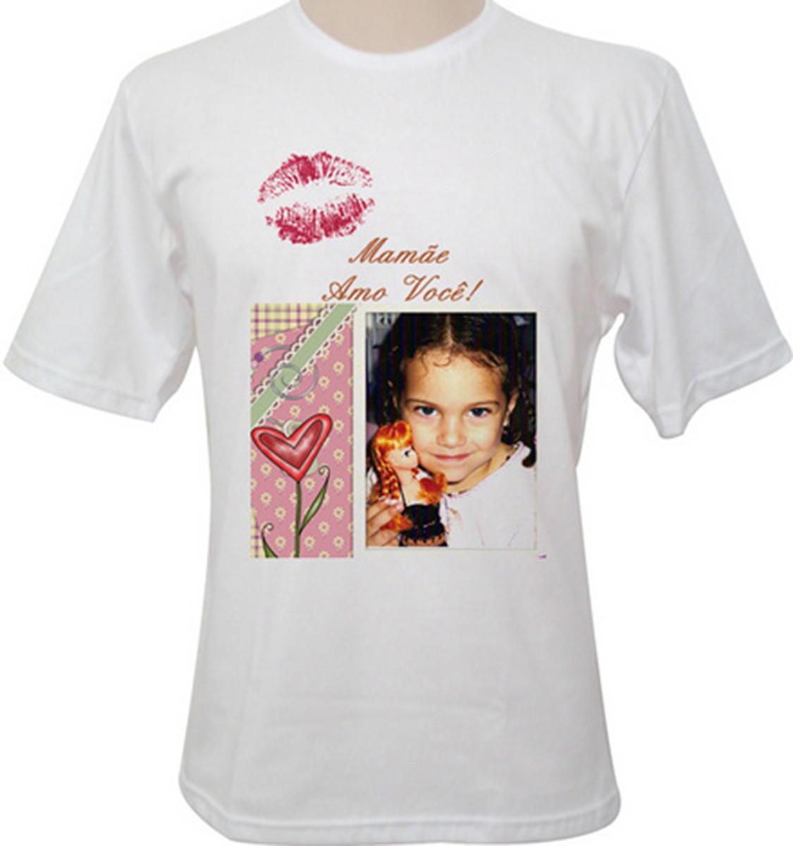 Camiseta Com Foto E Frase