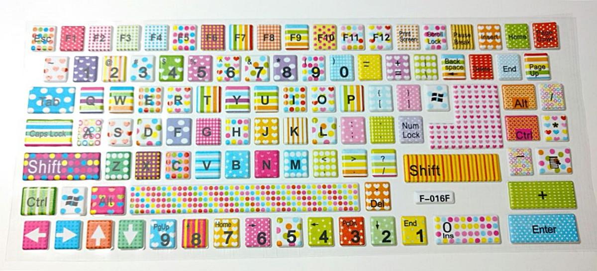Aparador Madeira ~ Adesivos para teclado (Colorido) Melancia de Papel Elo7