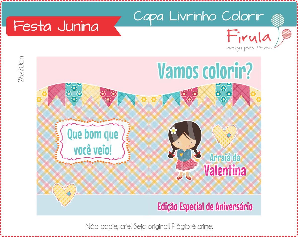 Capa Livrinho Para Colorir Festa Junina No Elo7 Firula Festas