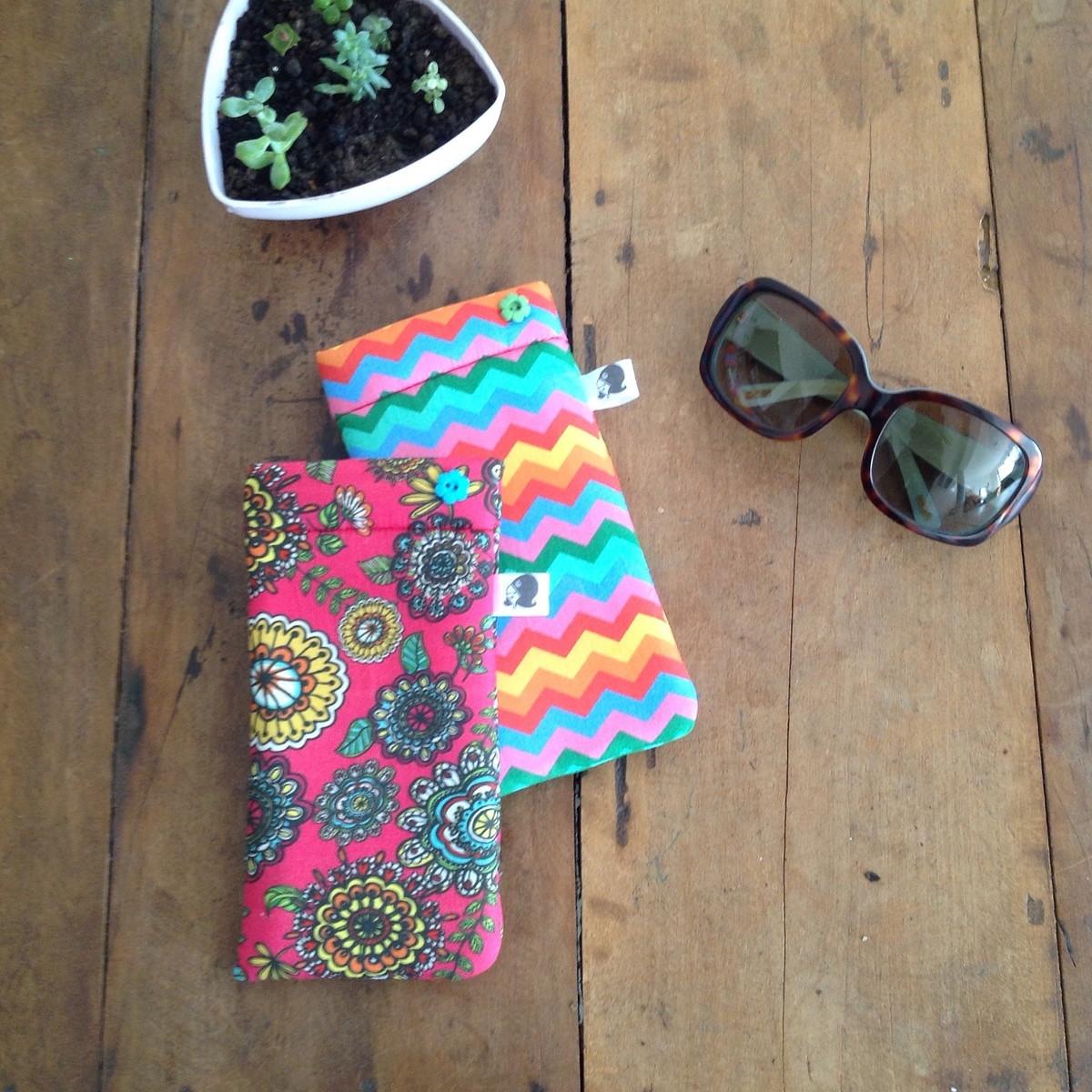 Porta culos floral vermelho atelier madrecita elo7 for Porta oculos