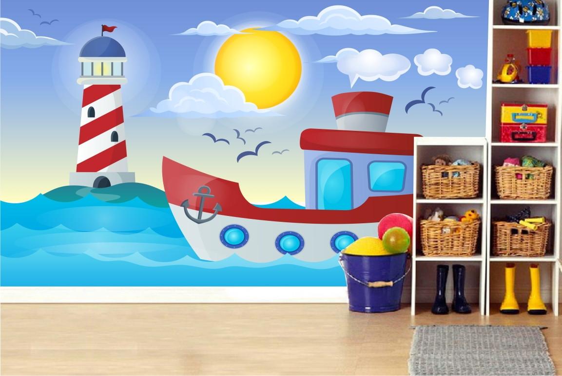 Adesivo Infantil Barco Mar Marinheiro 48 No Elo7